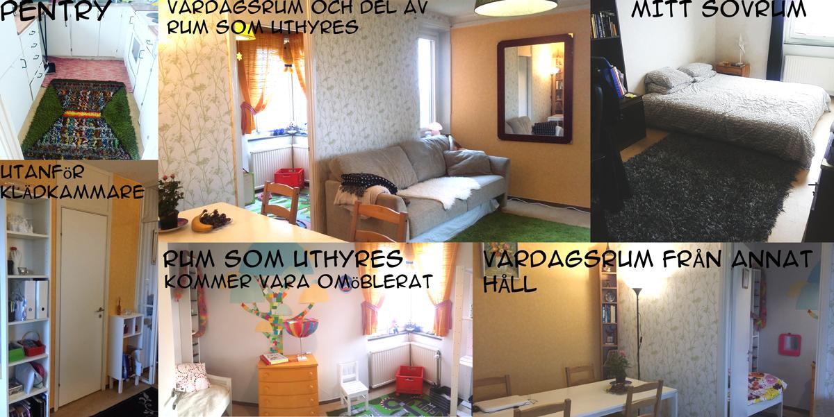 Alla rum i bostaden utom badrum
