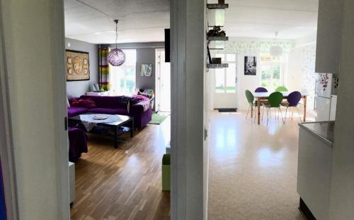 TV-rummet & kök